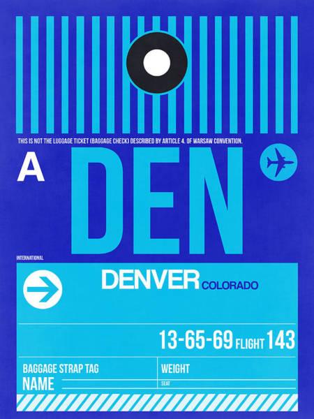 Colorado Digital Art - Denver Airport Poster 4 by Naxart Studio