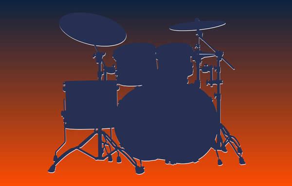 Drum Player Wall Art - Photograph - Denver Broncos Drum Set by Joe Hamilton