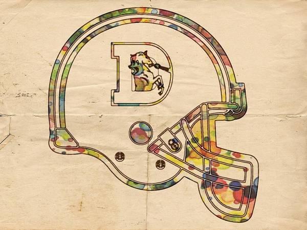 Painting - Denver Broncos Logo Helmet by Florian Rodarte