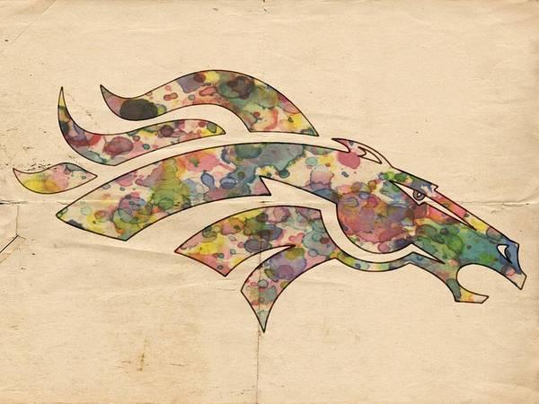 Painting - Denver Broncos Logo Vintage by Florian Rodarte