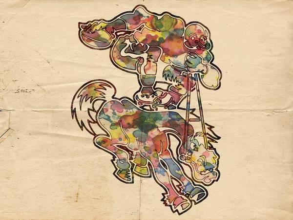 Painting - Denver Broncos Old Logo by Florian Rodarte