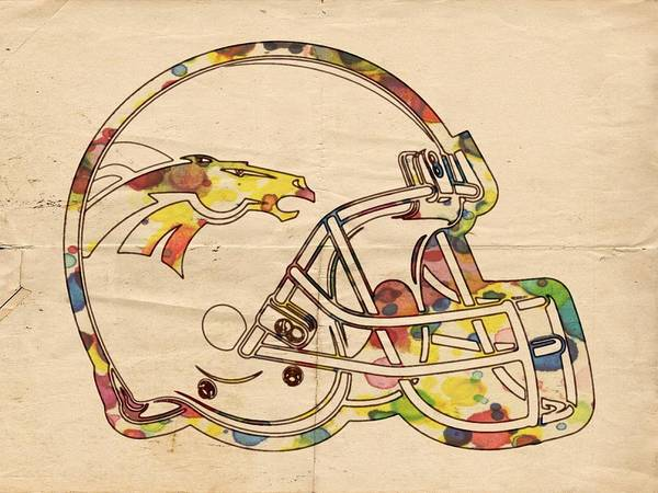 Painting - Denver Broncos Poster Art by Florian Rodarte