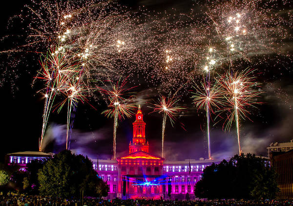 Photograph - Denver Co 4th Of July Fireworks by Teri Virbickis