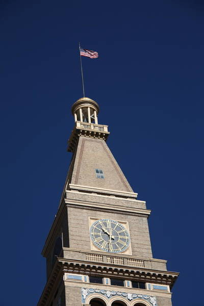 Photograph - Denver - Historic D And F Clocktower by Frank Romeo