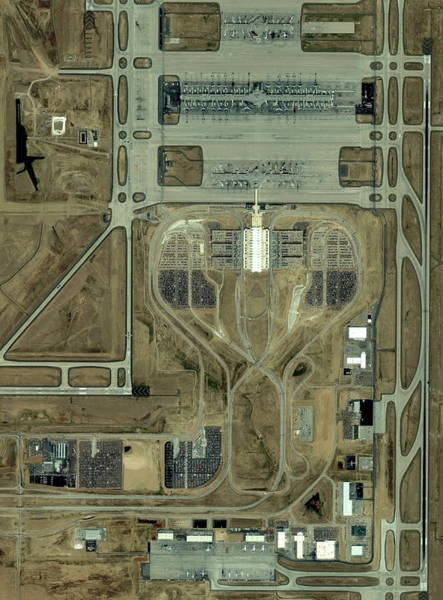 Runway Photograph - Denver International Airport by Geoeye/science Photo Library