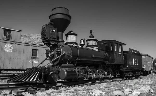 Photograph - Denver Leadville And Gunnison 191 Black White by Tim Mulina