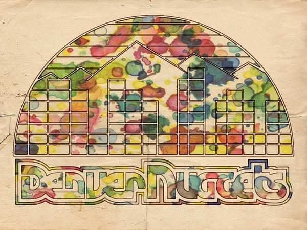 Slamdunk Painting - Denver Nuggets Poster Retro by Florian Rodarte