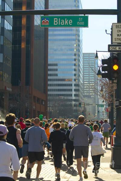 Photograph - Denver Runners by Steve Krull