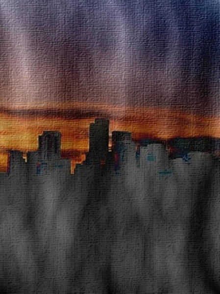 Painting - Denver The Mile High City by Dennis Buckman