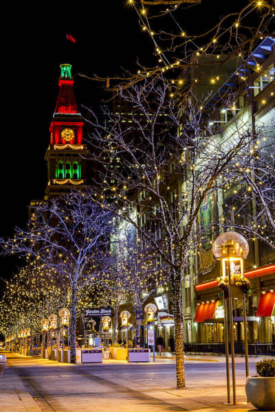 Photograph - Denver's 16th Street Mall During Holidays by Teri Virbickis