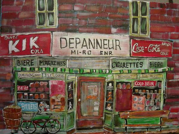 Wall Art - Painting - Depanneur Mi-ro by Michael Litvack