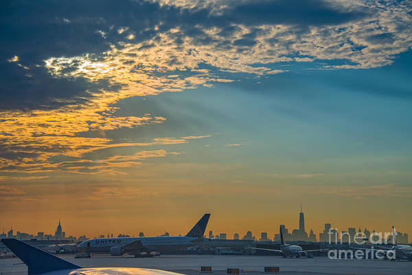 Michael Photograph - Departing From Ewr  by Michael Ver Sprill