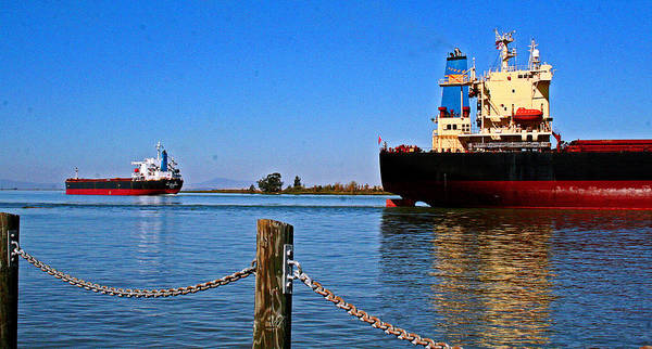 Photograph - Departing Ships by Joseph Coulombe