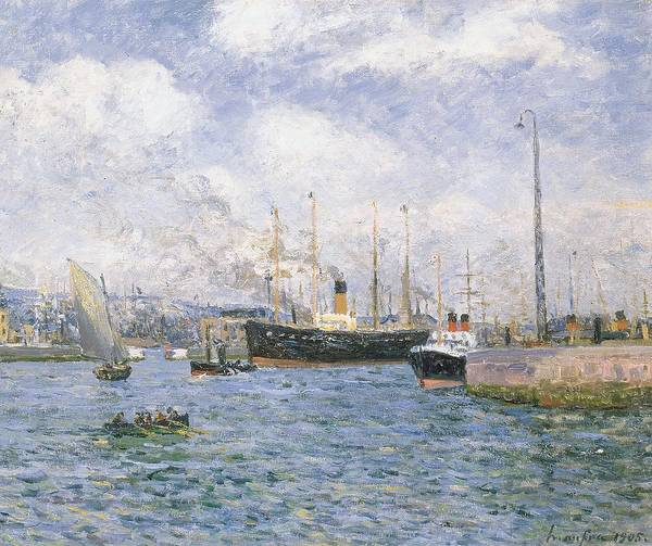 Traffic Painting - Departure From Havre by Maxime Emile Louis Maufra