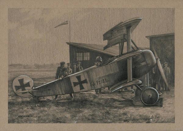 Plane Drawing - Der Junge Adler by Wade Meyers