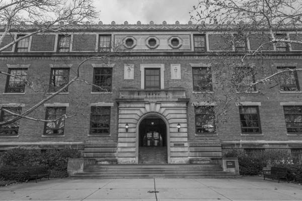 Ohio State University Photograph - Derby Hall Black And White  by John McGraw