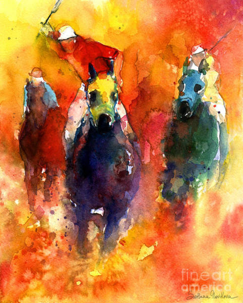 Painting - Derby Horse Race Racing by Svetlana Novikova
