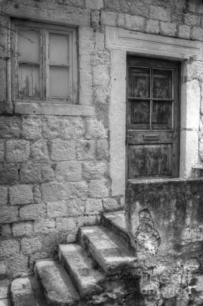 Photograph - Derelict Dubrovnik House by David Birchall