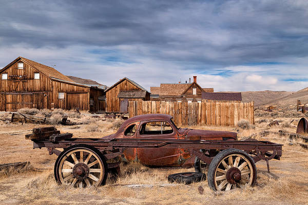 Bodie Ghost Town Wall Art - Photograph - Derelict Transport In Bodie Ghost Town by Kathleen Bishop