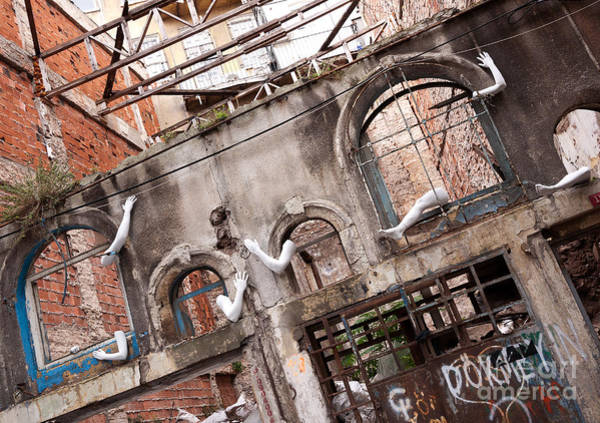 Photograph - Derelict Wall Of Lost Limbs 01 by Rick Piper Photography