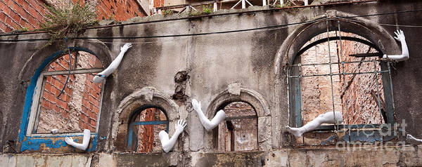 Photograph - Derelict Wall Of Lost Limbs 02 by Rick Piper Photography