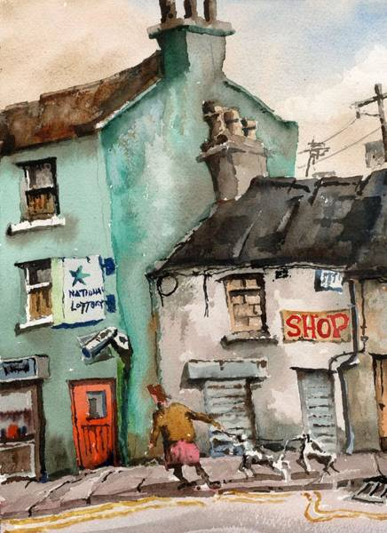 Painting - Deriliction  by Val Byrne