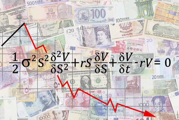 Financial Crisis Wall Art - Digital Art - Derivatives Financial Debacle - Black Scholes Equation by Daniel Hagerman
