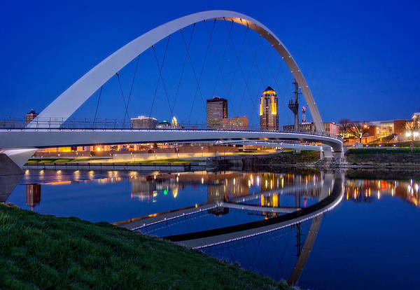 Across Photograph - Des Moines Skyline by Ray Van Gundy