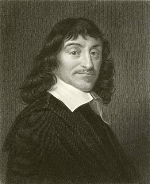 Mathematics Drawing - Descartes by English School