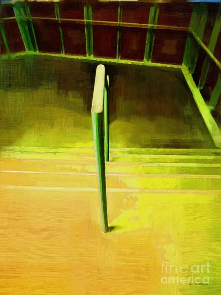 Painting - Descending The Balcony With Edward by RC DeWinter