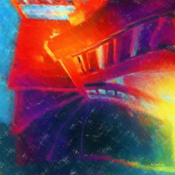 Painting - Descending The Stardust Stairway by RC DeWinter