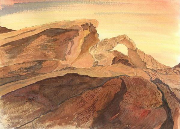 Desert Arch Art Print