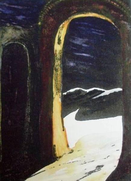 Wall Art - Mixed Media - Desert Archway by Joann Renner
