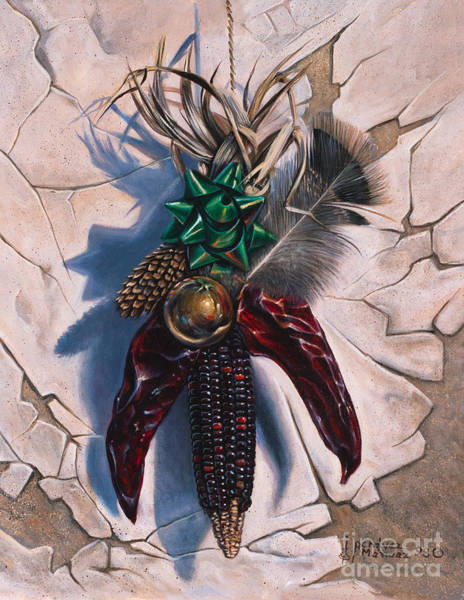 Pine Cones Painting - Desert Bow by Ricardo Chavez-Mendez