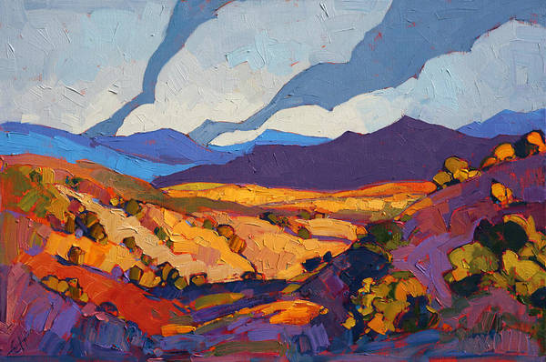 Landscape Wall Art - Painting - Desert Contrast by Erin Hanson