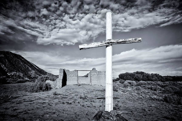 Photograph - Desert Cross by Ghostwinds Photography