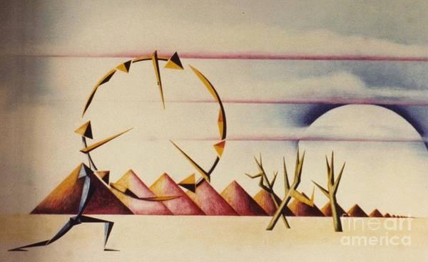 Drawing - Desert Dancers by David Neace