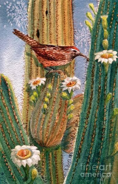 Wren Painting - Desert Gems by Marilyn Smith