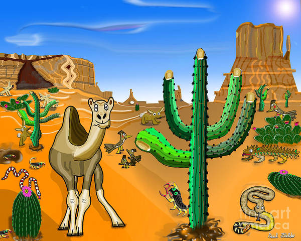 Cactus Mixed Media - Desert Hands by Paul Fields