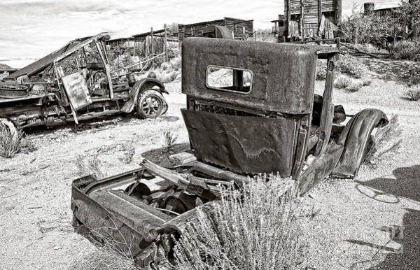 Ghosttown Photograph - Desert Idle In Black And White by Lee Craig