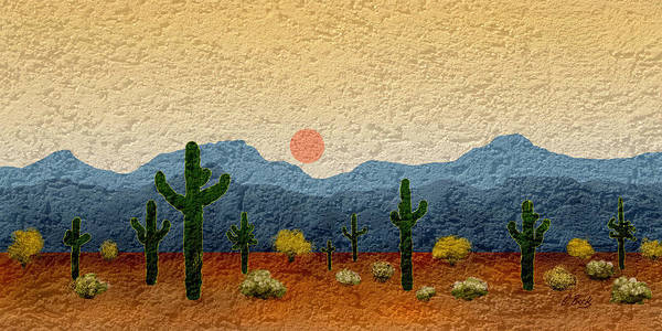 Southwest Digital Art - Desert Impressions by Gordon Beck