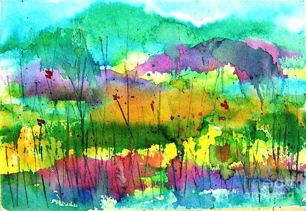 Wall Art - Painting - Desert In The Spring by Hazel Holland