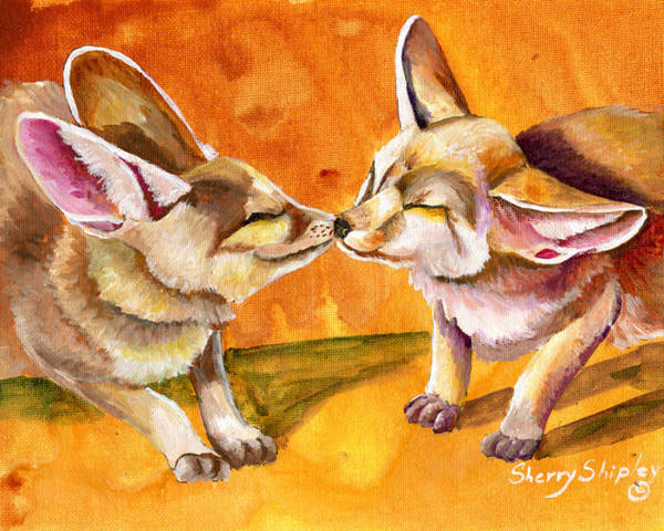 Painting - Desert Kiss by Sherry Shipley