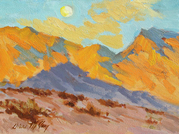 Moon Shadow Painting - Desert Morning La Quinta Cove by Diane McClary