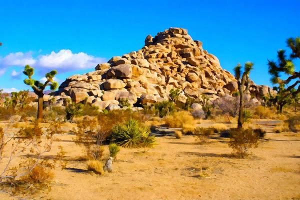 Mound Digital Art - Desert Mound Watercolor by Barbara Snyder