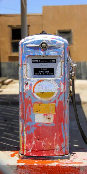Wall Art - Photograph - Desert Mountain Super Gasoline - Bennett Gas Pump by Mike McGlothlen