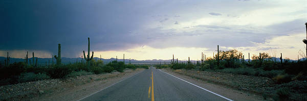 Expanse Photograph - Desert Road Near Tucson Arizona Usa by Panoramic Images