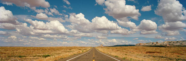 Wall Art - Photograph - Desert Road With Cloud Formations Above by Gary Yeowell