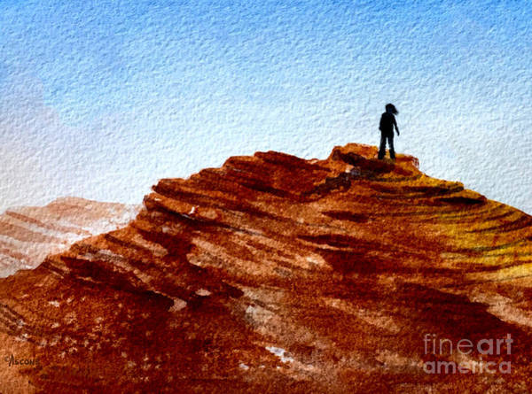 Valley Of Fire Painting - Desert Rock by Teresa Ascone