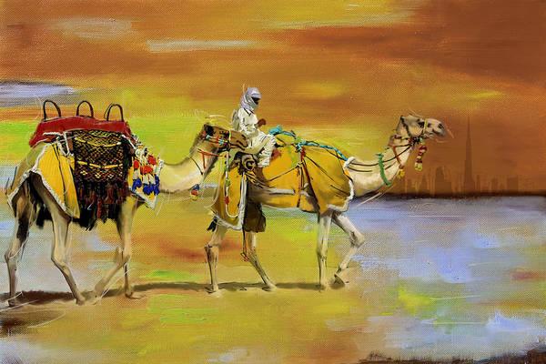 Expo Wall Art - Painting - Desert Safari by Corporate Art Task Force